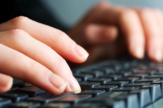 Typing-on-a-keyboard-shutterstock